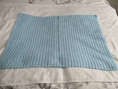 Handmade Babies Blanket Blue Colour  Newborn Gift Or Christening