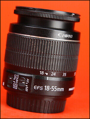Canon EF-S 18-55mm IS II F3.5-5.6 AF Zoom Lens + Rear Cap - Manual Focus Only