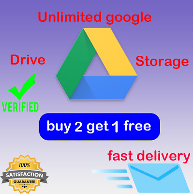 Unlimited Google Drive Storage Lifetime ✅For Your Gmail Account Fast Delivery✅