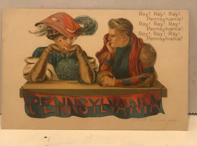 1907 F. Early Christy Pennsylvania Unused Embissed Sports Postcard