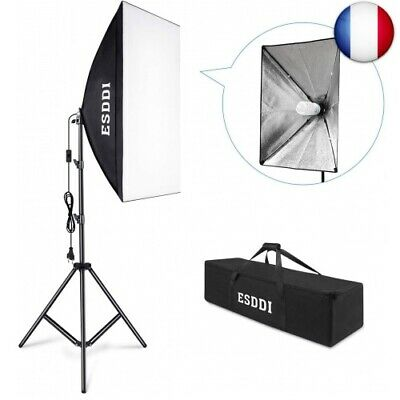 ESDDI Softbox Eclairage Vidéo avec 1x50x70cm Softbox Kit, 2m softbox (softbox)