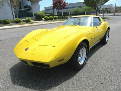1973 Corvette Coupe 1973 Chevrolet Corvette Coupe Yellow Matching Numbers Super Clean Classic