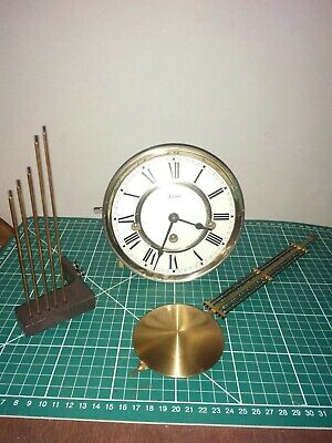 Vintage Hermle Westminster Chiming Wall Clock Movement In V.g.w.o.