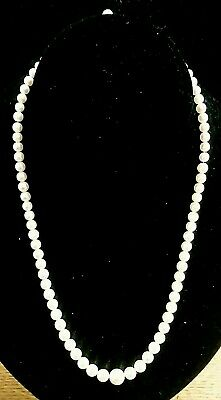 "Antique Mikimoto Graduated Pearl Necklace 18"" Strand Silver Clasp"