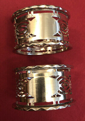 Pair Of Antique Edwardian Silver Plated Napkin Rings c.1900-1910
