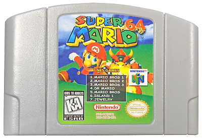 Nintendo N64 Game Super Mario 64 + 7 Classic NES games - US Seller