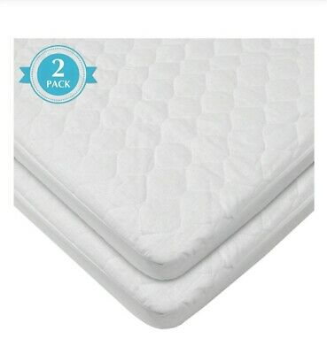 American Baby Company 2 Pack Waterproof Fitted QuiltedCottonPortable Mini