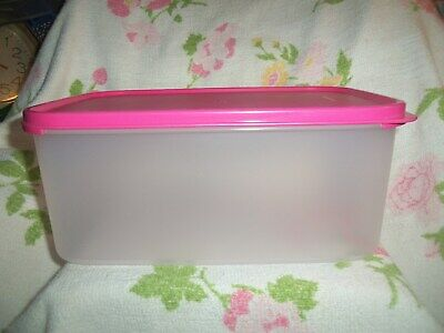 Tupperware Modular Mate Large 18 Cup Container W Pink Seal ~ Rare ~ Usa Made~New