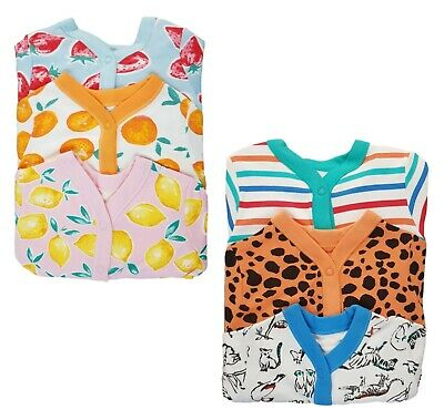 EX-STORE Baby Boys Girls Babygrow Sleepsuits  3 Pack 100% Cotton Playsuit NEW