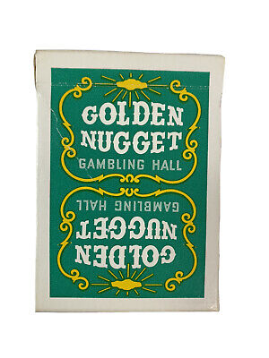 1970's VTG Unsealed Green Golden Nugget Gambling Hall Playing Cards HTF