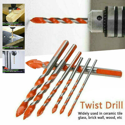 5//7* Multifunctional Drill Bit Wall Ceramic Tile Porcelain Glass Punching Hole☃