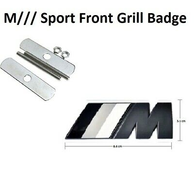 M ////// SPORT Front GRILL Badge Emblem For BMW 1 3 4 5 6 7 X Series