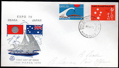 1970 Australia OSAKA Japan EXPO EXCELSIOR FDC Cover Light Lead Pencil Addressee