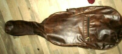 Vtg Buttery Soft Chestnut Brown Cello Case w/Compartments & Extras Quince Eddens