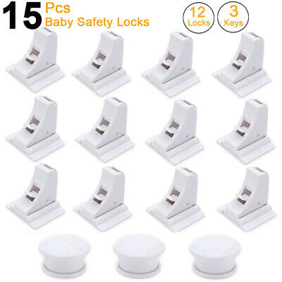 8/15pcs Baby Safety Magnetic Cabinet Locks Invisible Child Proof Cupboard Drawer