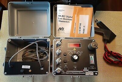 Biddle 247000-11  15572-1 DLRO Digital Low Resistance Ohmmeter