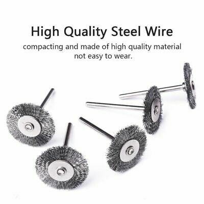 Steel Wire Wheel Brushes For Metal Rust Dremel Brush Rotary Tools 20pcs