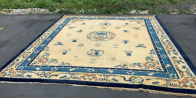 Antique   Hand Made Peking  Chinese Rug 12x13ft from Ca 1860