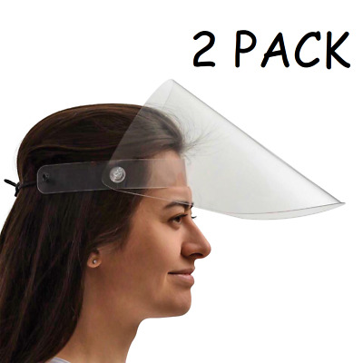 Reusable Face Shield Guard Protector, Anti-Splash, Adjustable, Washable