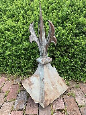 Ex Large Antique Victorian Metal Scroll Roof Ornament Tin Finial Corbel Bracket