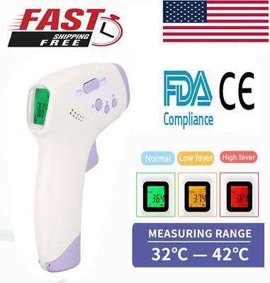 Medical NON-CONTACT Body Forehead IR Infrared Laser Digital Thermometer US zO