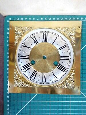 Antique Brass  Bracket Clock Face / Dial- 8 X 8 Inches