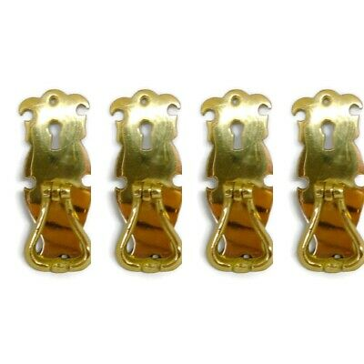 4 small knob pulls handles door old vintage polished style drops knobs 10cm KH