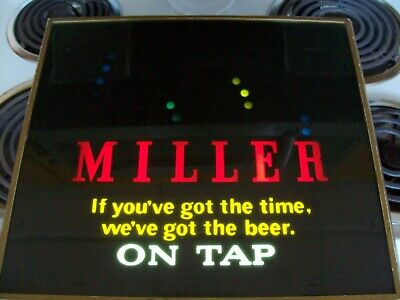 "Vintage Miller ""Bouncing Ball"" Motion Beer Sign - In Good Working Condition"
