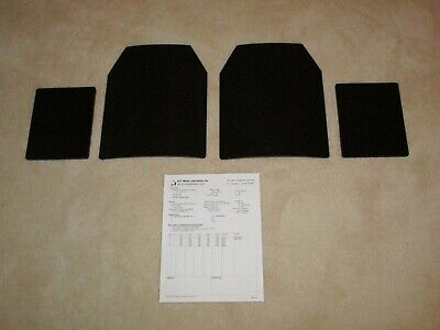 Ar500 Level 3+ Steel Armor Plates (2)10X12 And (2) 8X6 Plates Fast Shipping!