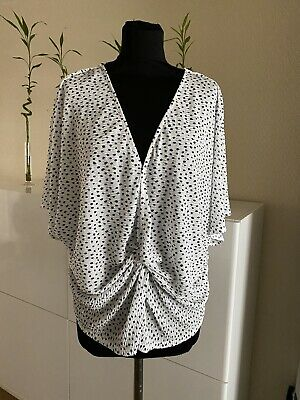 BNWoT size 14 lovely Ivory// Navy abstract print BLOUSE M/&S collection