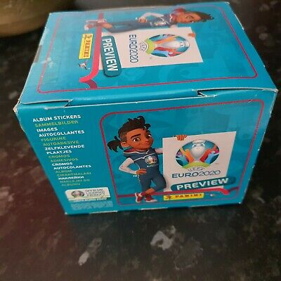 Panini UEFA Euro 2020 Preview Sticker Collection 1 new box 60  packs