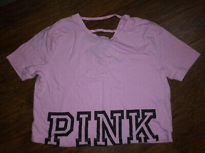PINK By Victoria Secret Pink Oversized Crop Top Size XSMALL