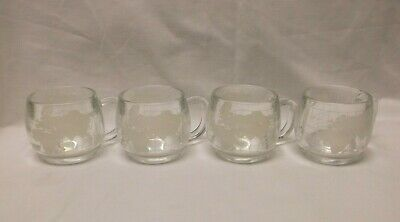 Group of 4 Nestle World Globe Cups