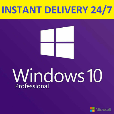 Instant Windows 10 Professional Pro Key 32/64 Bit Activation License Product Key
