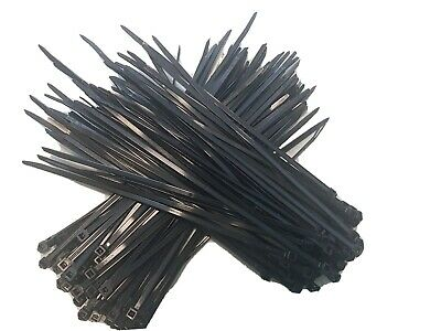1000er Pack UV Fixed Cable Ties High Pull Strength 100er Cable Tie Set Black