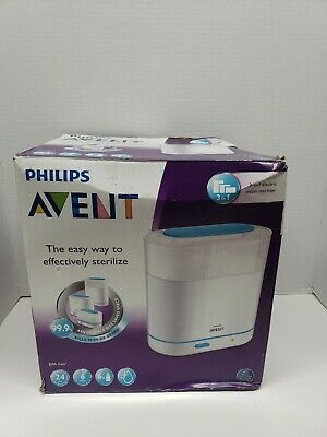 Electric Steam Sterilizer, Philips AVENT 3-in-1 Baby Bottle Infant Cleaner
