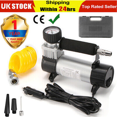 Heavy Duty 12V Electric Car Tyre Tire Inflator 150Psi Air Compressor Pump Uk New