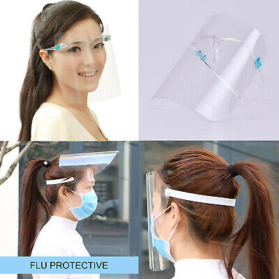 Transparent Safety Face Shield Clear Glasses Dust-proof Protective Cover Dental