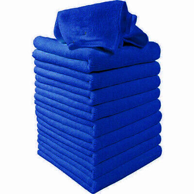 50 X Large Microfibre Cleaning Auto Car Detailing Soft-Cloths Wash Towel-Duster