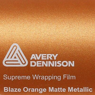 Avery Supreme Wrapping Film Serie Blaze Orange Pellicola auto Wrap metallizzato opaco 200/ x 152/ cm