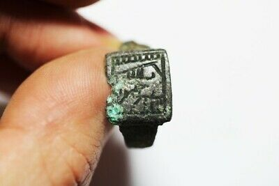Zurqieh - As17642-  Ancient Roman  Silver Ring. 200 - 400 A.d