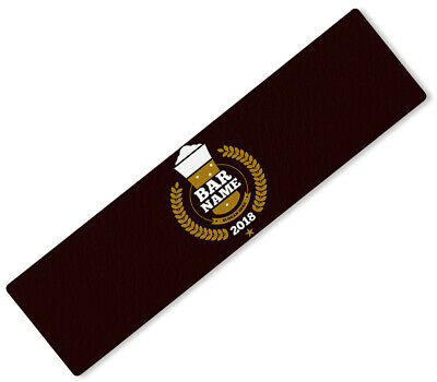 Personalised Any Text Beer Mat Label Bar Runner Ideal Home Pub Cafe Occasion 105