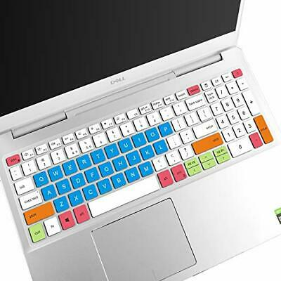 Laptop Keyboard Cover Skin Protector for Dell Inspiron 15 7000 7590 7591 5000 5584 I5584 I7590 I7591 15.6 Inch-Blue