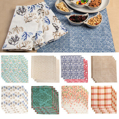 "10 pcs 17/""x17/"" or 20/""x20/"" Polyester Cloth Linen Dinner Napkins with or w//o Rings"