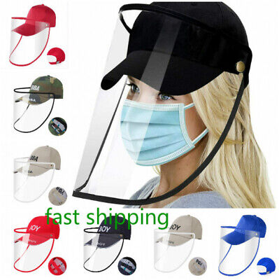 Multicolor Adult Anti-Saliva Baseball Cap Full Face Cover Protective Shield Hat