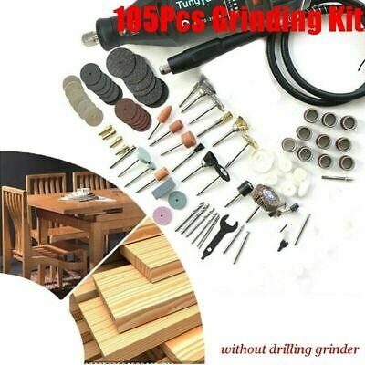 105Pcs Mini Electric Drill Grinder Rotary Tool Grinding Accessory Polishing Y4I7