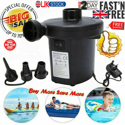 Electric Air Pump Inflator for Inflatables Camping Bed pool 220V 12V Car Home GG