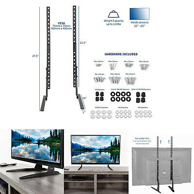 Universal Table Top TV Stand Legs for LG 55LB5500-UC Height Adjustable
