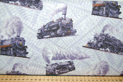 Train Class 7 Steam Loco  Fabric Craft Panels in 100/% Cotton or Polyester