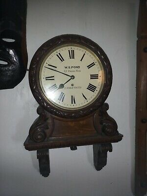 Antique Oak 10inch Dial Fusee Movement Wall Clock